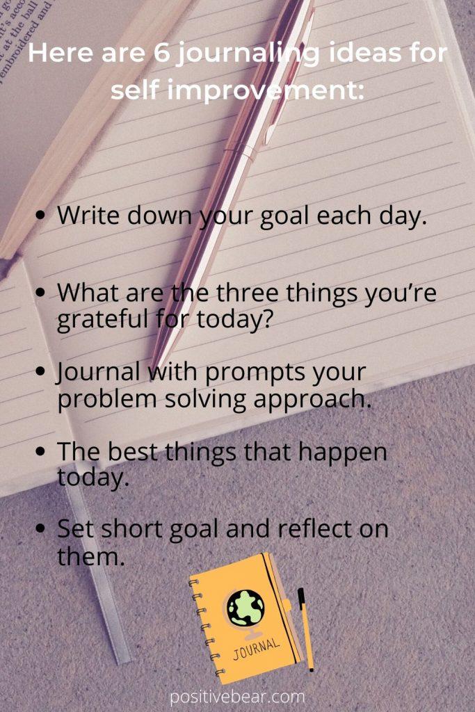 journaling ideas for self improvement