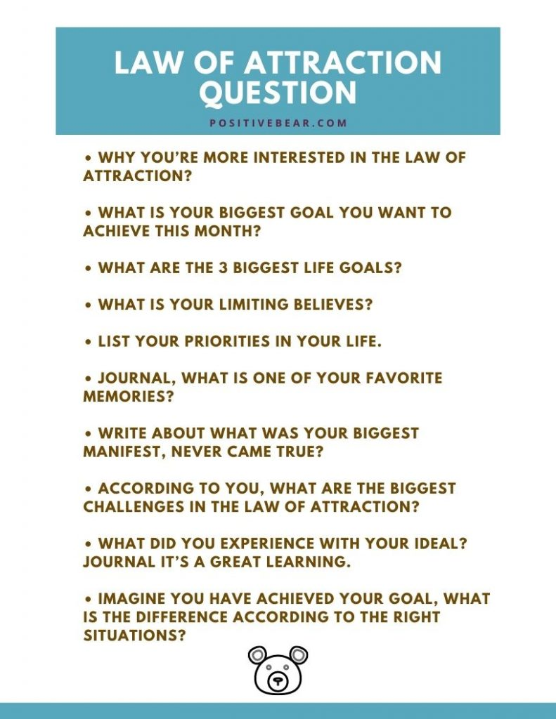 Law of attraction questions