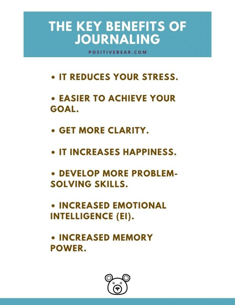 The Key Benefits of Journaling